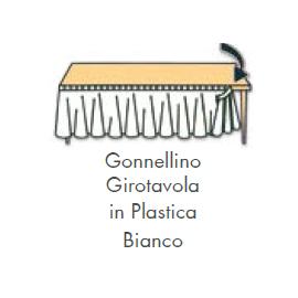 GONNELLINA GIROTAVOLA BIANCA in plastica 426x73 cm