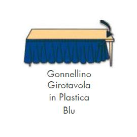 GONNELLINA GIROTAVOLA BLU in plastica 426x73 cm