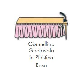 GONNELLINA GIROTAVOLA ROSA in plastica 426x73 cm