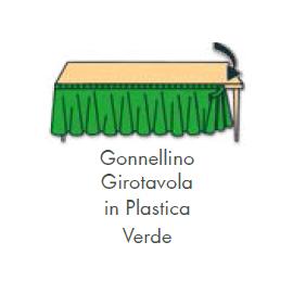 GONNELLINA GIROTAVOLA VERDE in plastica 426x73 cm