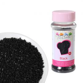 FUNCAKES COLOURED SUGAR BLACK - Zucchero per decorazione nero 80gr.