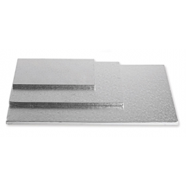 CAKEBOARD ARGENTO RETTANGOLARE 30x40 cm X H 1,2 CM