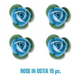 ROSELLINE DI CIALDA AZZURRE - 15 Pz.