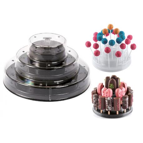Espositore rosa per cake pops,easy pops,finger mini su stecco Silikomart