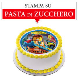 Cialda personalizzata LEGO tonda (stampa su pasta di zucchero)