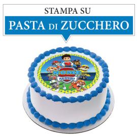Cialda personalizzata PAW PATROL tonda (stampa su pasta di zucchero)