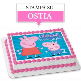 Cialda personalizzata PEPPA PIG rettangolare (stampa su ostia)