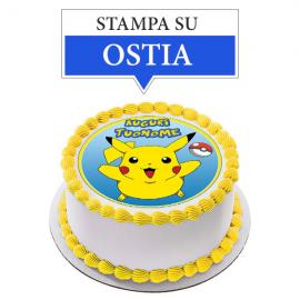 Cialda personalizzata Pokemon tonda (stampa su ostia)
