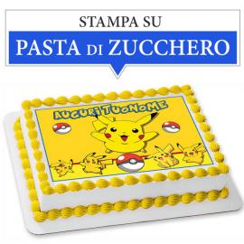 Cialda personalizzata Pokemon rettangolare (stampa su pasta di zucchero)