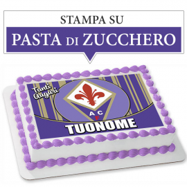 Cialda personalizzata FIORENTINA rettangolare (stampa su pasta di zucchero)