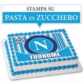 Cialda personalizzata NAPOLI rettangolare (stampa su pasta di zucchero)
