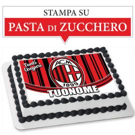 Cialda personalizzata MILAN rettangolare (stampa su pasta di zucchero)