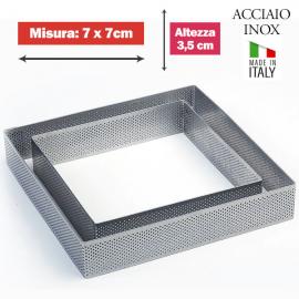 FASCIA MICROFORATA QUADRATA (acciaio inox) DIM. 7x7cm x 3,5cm h.