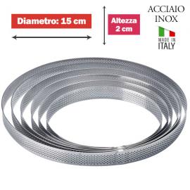 FASCIA MICROFORATA ROTONDA (acciaio inox) DIAM. 15cm x 2cm h.