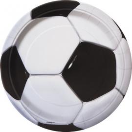 PIATTINI CALCIO (3D - Soccer) 18cm - 8 Pz.