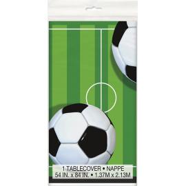 TOVAGLIA IN PLASTICA CALCIO (3D - Soccer) 2,13x1,37 mt