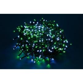 180 LED - LUCE VERDE/BIANCA (Uso interno ed esterno / 8 giochi di luce) 9 mt