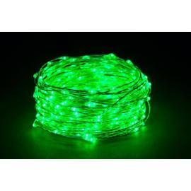 180 MICROLED - LUCE VERDE (Uso interno ed esterno / 8 giochi di luce) 9 mt
