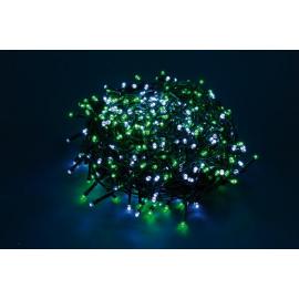 300 LED - LUCE VERDE/BIANCA (Uso interno ed esterno / 8 giochi di luce) 15 mt