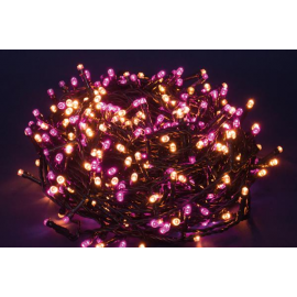 750 LED - LUCE FUXIA/CALDA (Uso interno ed esterno / 8 giochi di luce) 37,5 mt