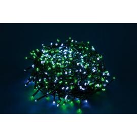 750 LED - LUCE VERDE/BIANCA 37,5 mt (Uso interno ed esterno / 8 giochi di luce) 37,5 mt