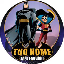 Cialda personalizzata BATMAN tonda (stampa su ostia)