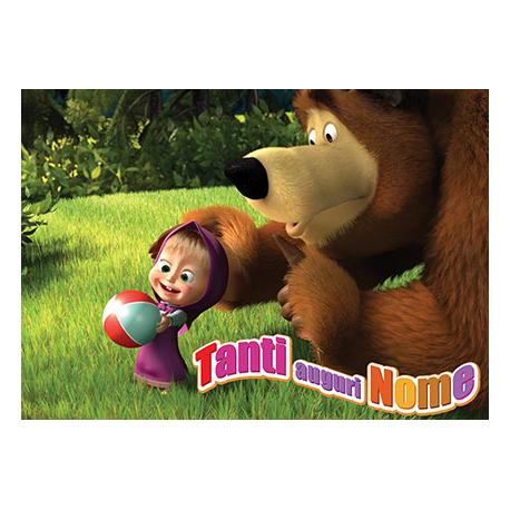 Cialda personalizzata masha e orso rettangolare stampa su for Masha e orso stampa e colora