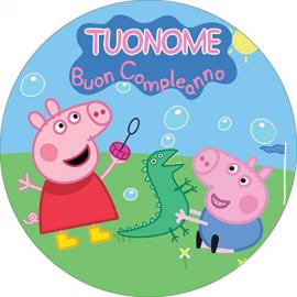 Cialda personalizzata PEPPA PIG tonda (stampa su ostia)