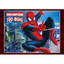 Cialda personalizzata SPIDERMAN rettangolare (stampa su ostia)