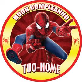 Cialda personalizzata SPIDERMAN tonda (stampa su ostia)