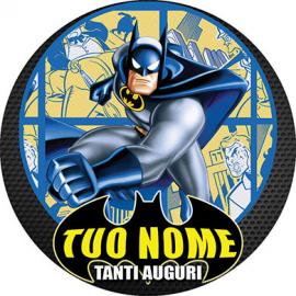 Cialda personalizzata BATMAN tonda (stampa su pasta di zucchero)