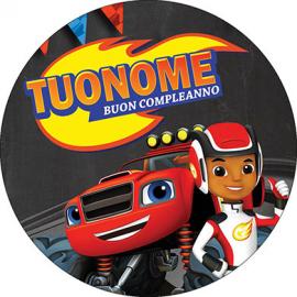 Cialda personalizzata BLAZE tonda (stampa su pasta di zucchero)