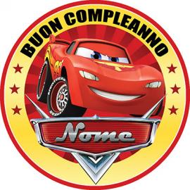 Cialda personalizzata CARS tonda (stampa su pasta di zucchero)