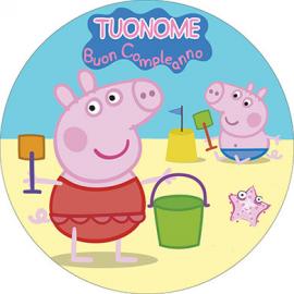 Cialda personalizzata PEPPA PIG tonda (stampa su pasta di zucchero)