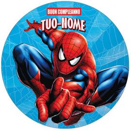 Cialda personalizzata SPIDERMAN tonda (pasta di zucchero)