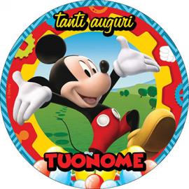 Cialda personalizzata TOPOLINO tonda (pasta di zucchero)
