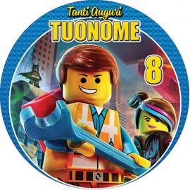 Cialda personalizzata LEGO tonda (stampa su ostia)