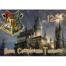 Cialda personalizzata Harry Potter rettangolare (stampa su pasta di zucchero)