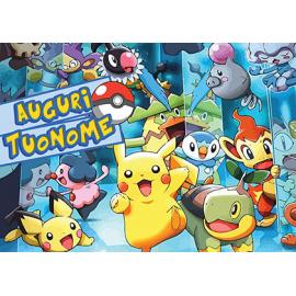 Cialda personalizzata Pokemon rettangolare (stampa su ostia)