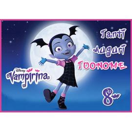 Cialda personalizzata Vampirina rettangolare (stampa su pasta di zucchero)