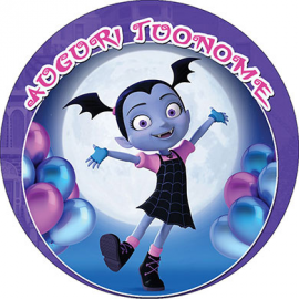 Cialda personalizzata Vampirina tonda (stampa su pasta di zucchero)