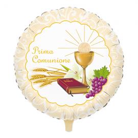 PALLONCINO MYLAR PRIMA COMUNIONE 45cm