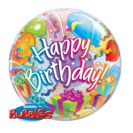 PALLONCINO BUBBLE HAPPY BIRTHDAY - SURPRISE ø 56cm