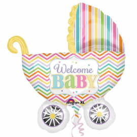 PALLONCINO CARROZZINA WELCOME BABY FOIL SUPERSHAPE 31x79cm