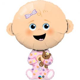 PALLONCINO WELCOME BABY GIRL BIMBA FOIL SUPERSHAPE - 96cm